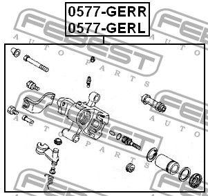 суппорт тормозной задний левый ga2e-26-71xa mazda 626